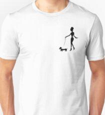 Flaunting The Pooch (peach) - Dachshund Sausage Dog T-Shirt