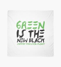 Green Is The New Black - Support your local Planet - Planet Blue - Planet Earth Tee Shirt Gift Scarf