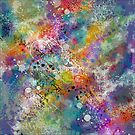 PAINT STAINED ABSTRACT by PopArtdiva