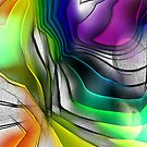 RAINBOW CONVERGENCE ABSTRACT by PopArtdiva