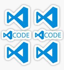Visual Studio Code x6 Sticker