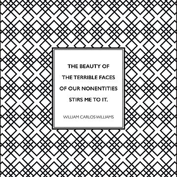 William Carlos Williams - Beauty of Terrible Faces by 5pennystudio