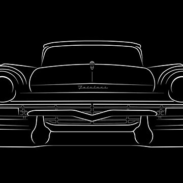 1957 Ford Fairlane 500 - front stencil, white by mal-photography