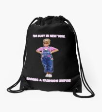 Fuller House - too busy in NY running a fashion empire Drawstring Bag