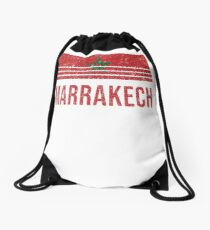 Marrakech Vacation Souvenir Drawstring Bag