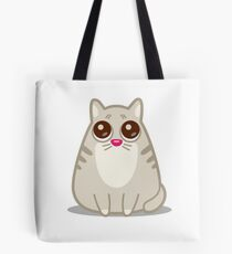 Funny Sad Cat Tshirt and Stickers - Cat Gifts for Cat lovers everywhere! Tote Bag