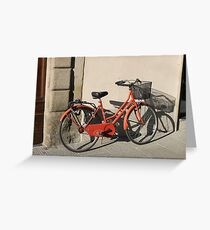 Italian Bicycle Greeting Card