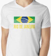 Rio-De-Janeiro Vacation Souvenir Men's V-Neck T-Shirt