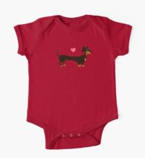 Sausage Love - Dachshund Sausage Dog One Piece - Short Sleeve