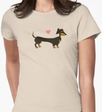 Sausage Love - Dachshund Sausage Dog Womens Fitted T-Shirt