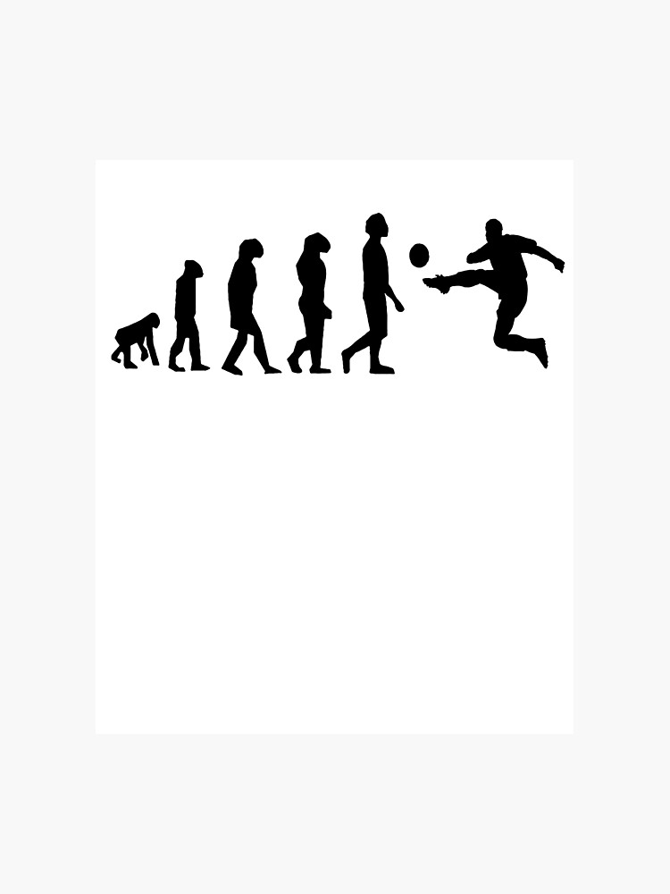 Evolution Of Fussball Kicker Fussballer Shirt Fotodruck