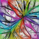 KALEIDOSCOPE DRAGONFLY ABSTRACT by PopArtdiva