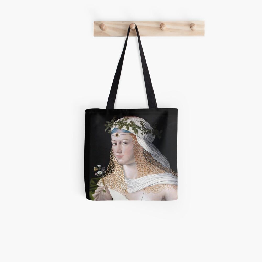 Porträt einer Frau / Flora - Bartolomeo Veneto (Lucrezia Borgia) Tote Bag