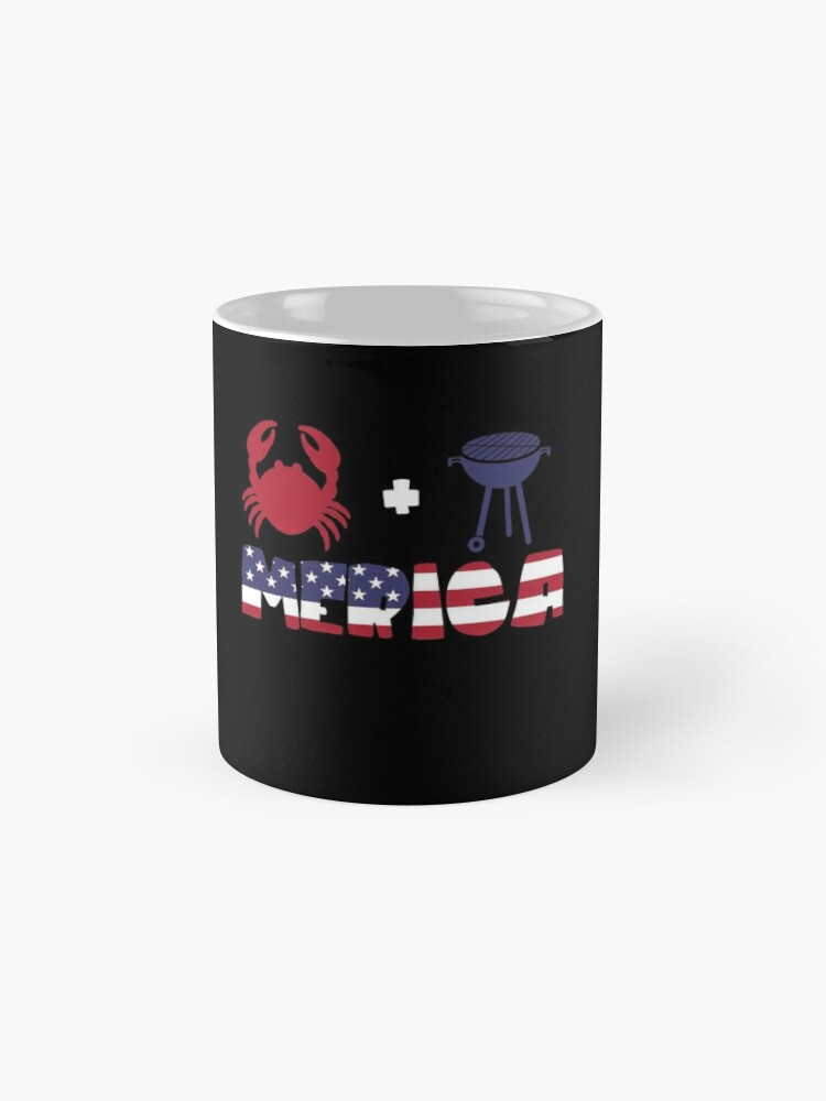Vista alternativa de Taza Crab plus Barbeque Merica American Flag