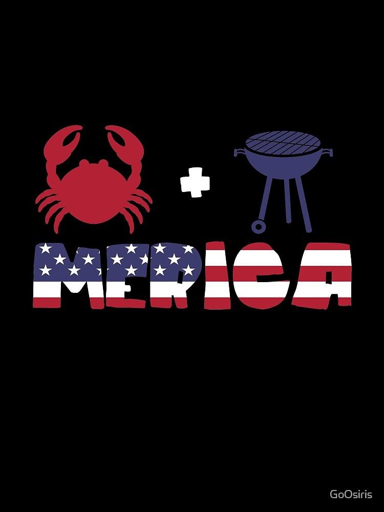 Crab plus Barbeque Merica American Flag de GoOsiris
