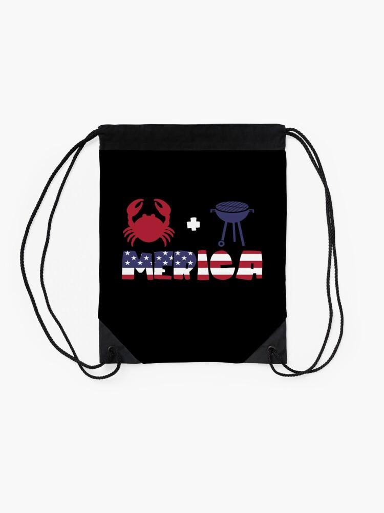 Vista alternativa de Mochila saco Crab plus Barbeque Merica American Flag