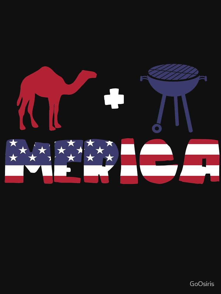 Camel plus Barbeque Merica American Flag de GoOsiris