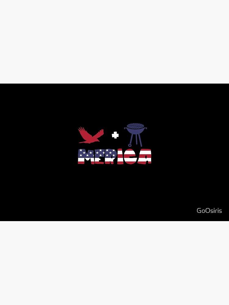 Eagle plus Barbeque Merica American Flag de GoOsiris