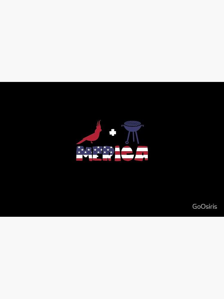 Cockatoo plus Barbeque Merica American Flag de GoOsiris