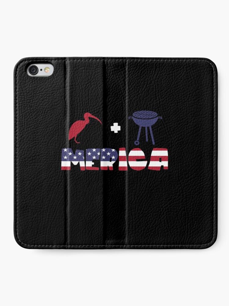 Vista alternativa de Fundas tarjetero para iPhone Curlew plus Barbeque Merica American Flag