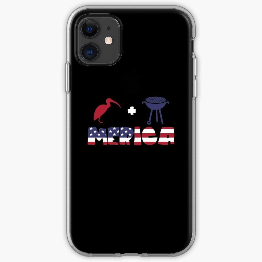 Curlew plus Barbeque Merica American Flag Funda y vinilo para iPhone