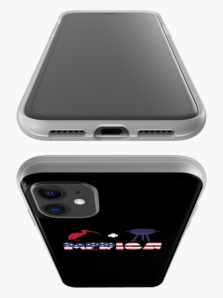 Vista alternativa de Funda y vinilo para iPhone Curlew plus Barbeque Merica American Flag