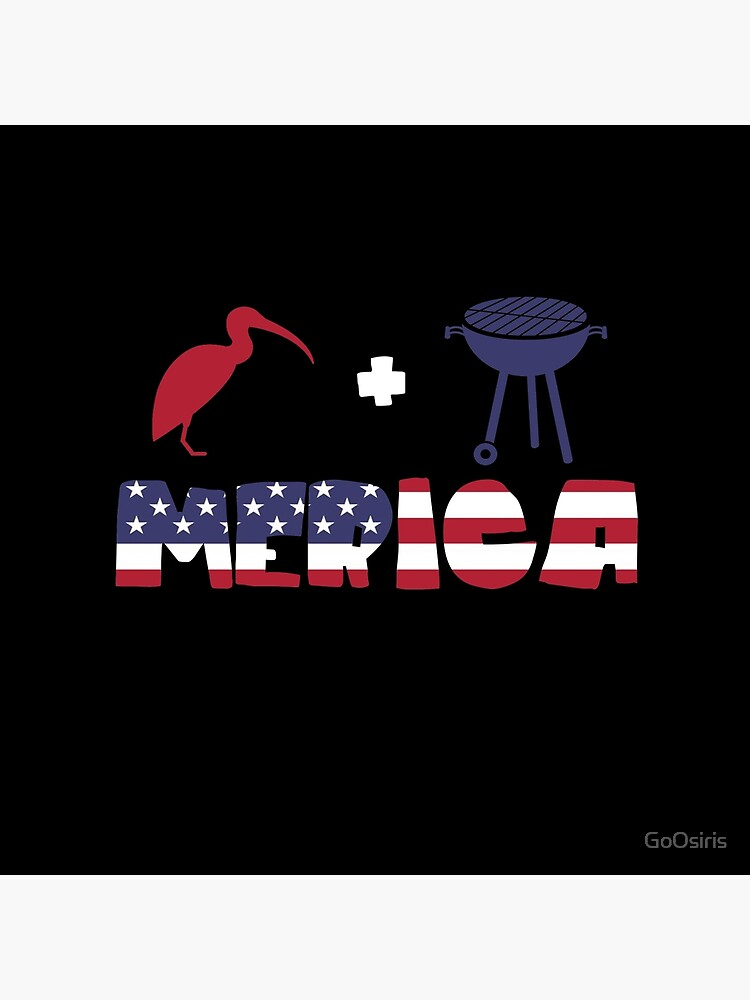 Curlew plus Barbeque Merica American Flag de GoOsiris