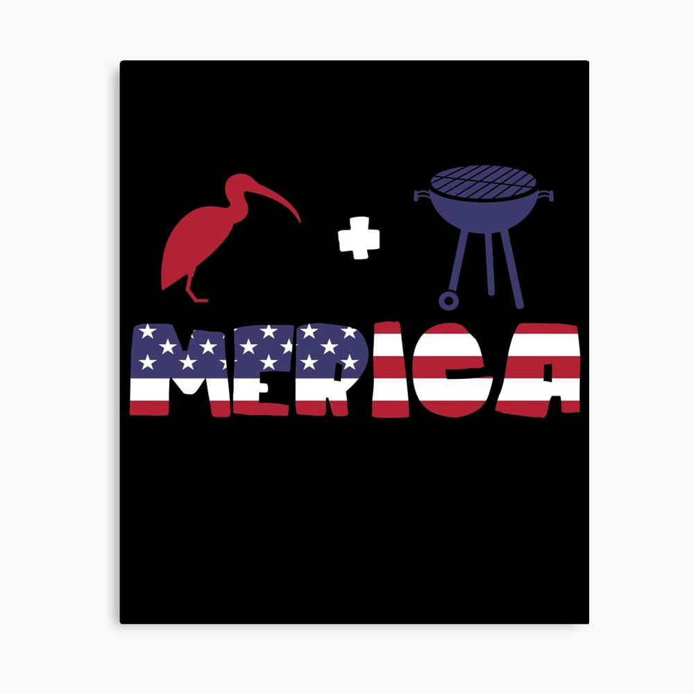Curlew plus Barbeque Merica American Flag Lienzo