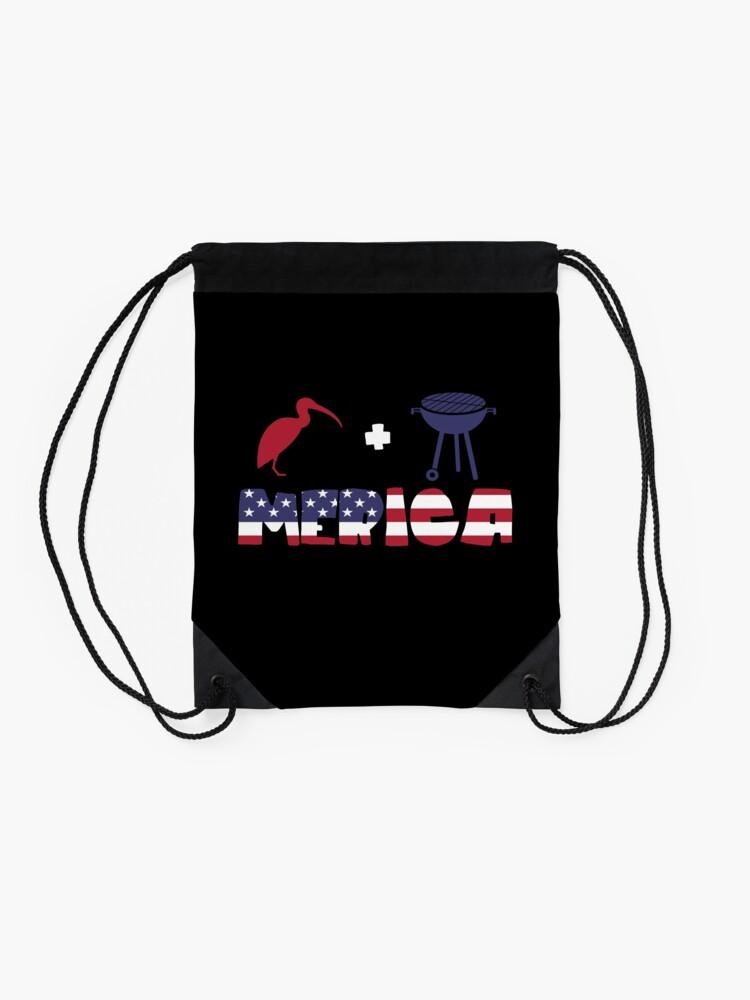 Vista alternativa de Mochila saco Curlew plus Barbeque Merica American Flag