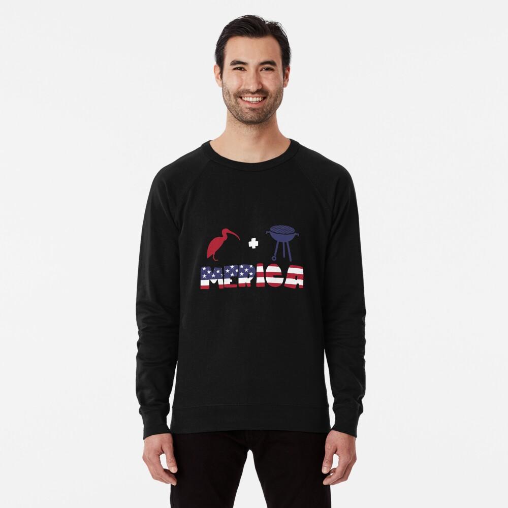 Curlew plus Barbeque Merica American Flag Sudadera ligera