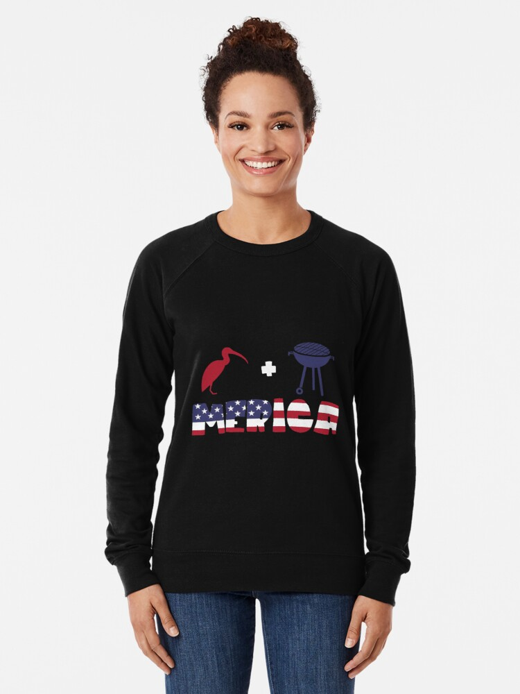 Vista alternativa de Sudadera ligera Curlew plus Barbeque Merica American Flag