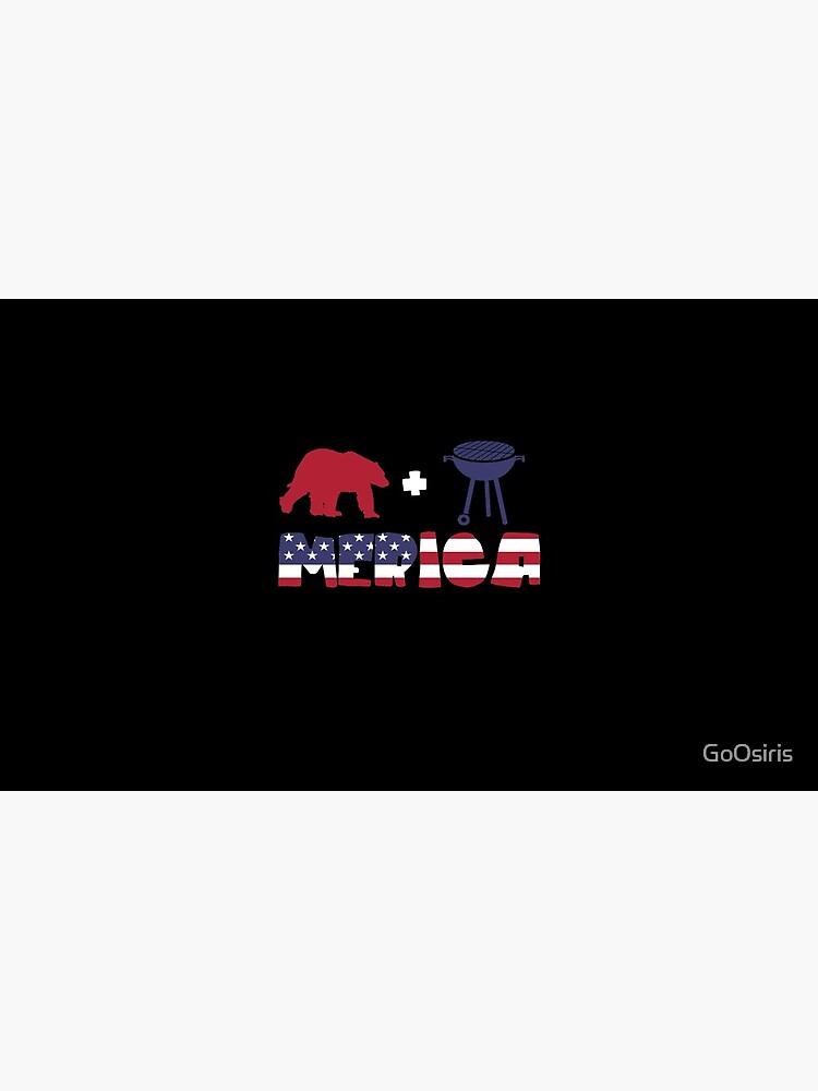 Bear plus Barbeque Merica American Flag de GoOsiris