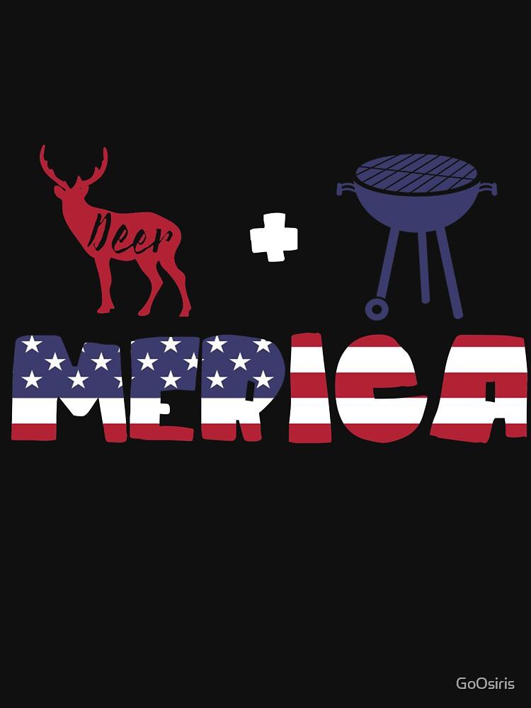 Deer plus Barbeque Merica American Flag de GoOsiris