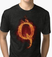 Qanon Fire Letter Q Anon The Great Awakening the storm is here prints online store Tri-blend T-Shirt