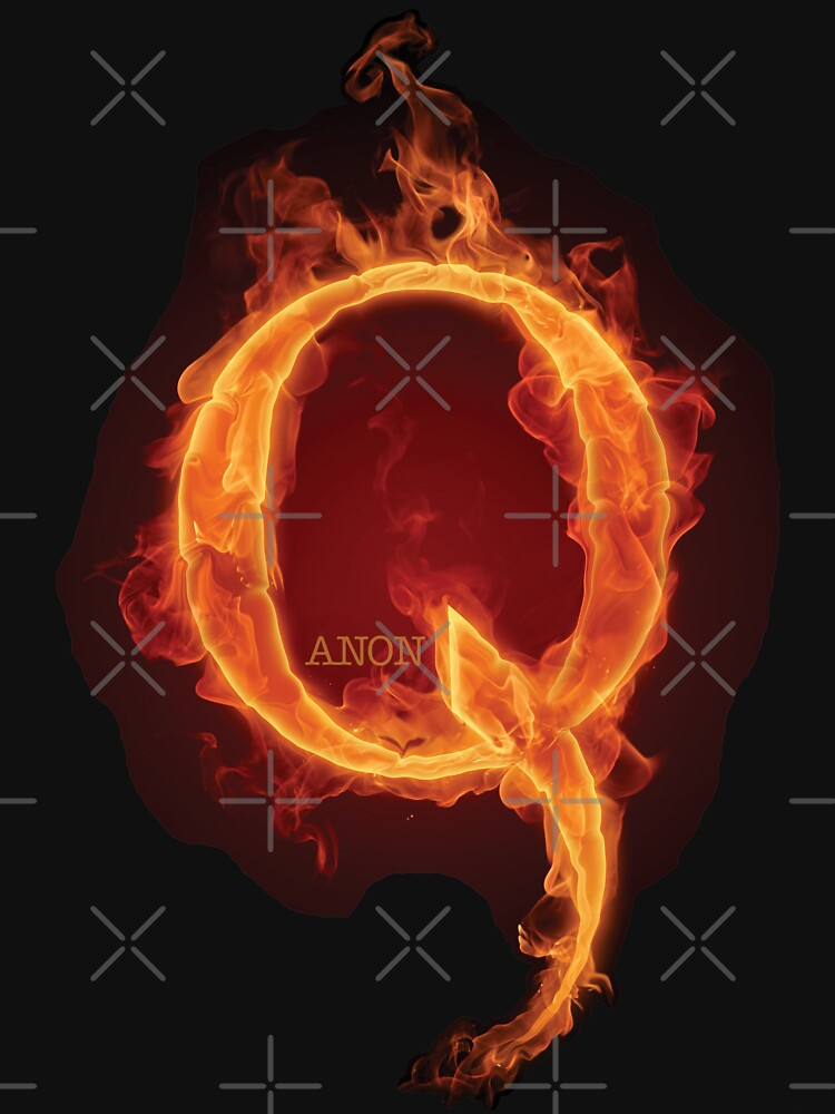 Qanon Fire Letter Q Anon The Great Awakening the storm is here prints online store by iresist