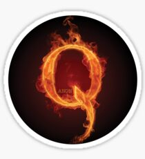 Qanon Fire Letter Q Anon The Great Awakening the storm is here prints online store Sticker