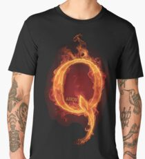 Qanon Fire Letter Q Anon The Great Awakening the storm is here prints online store Men's Premium T-Shirt