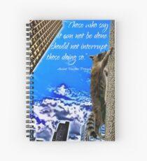 Ancient Raccoon Proverb Spiral Notebook