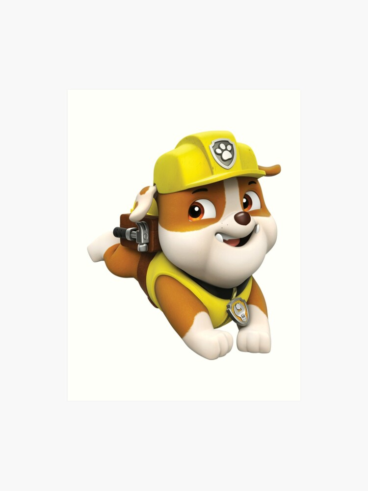 Rubble On The Double Paw Patrol Art Print