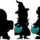 Teal Pumpkin Trick or Treaters by SamAnnDesigns