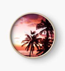 Island Sunset Clock
