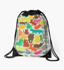 Cats Giving Advice Drawstring Bag