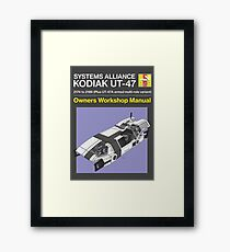 Mass Effect - Kodiak - Owners Manual (Modern) Framed Print