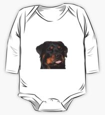 Cute Rottweiler With Tongue Out Kids Clothes