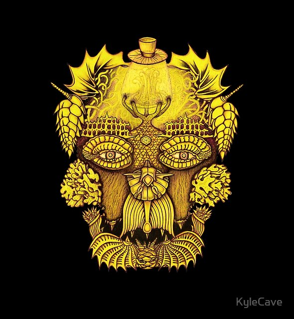 Yellow Coral Skull by KyleCave