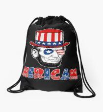 Merican Abraham Lincoln Drawstring Bag