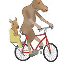 Moose on a bike by JenaBenton