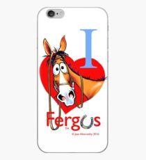 "Fergus the Horse: ""I <3 Fergus"" iPhone Case"