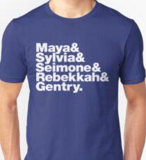 Minnesota Lynx ampersand T-shirt: Maya&Sylvia&Seimone&Rebekkah&Gentry. Unisex T-Shirt