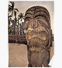 Hawaiian tiki warrior Poster